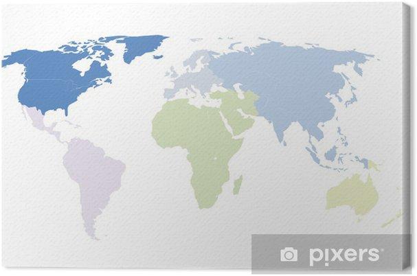 Obraz Na Platne Mapa Sveta Pozadi Pixers Zijeme Pro Zmenu