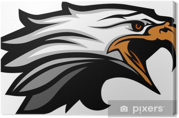 Obraz na plátně Maskot vedoucí z vektorové ilustrace Eagle - Nálepka na stěny