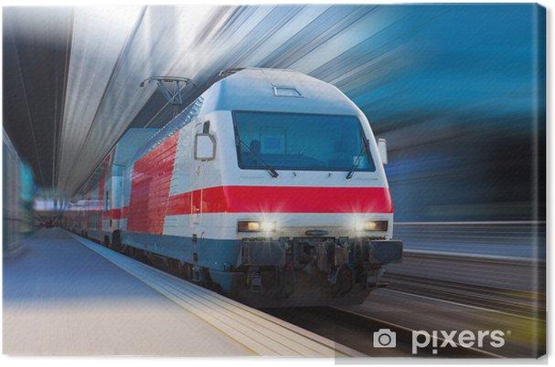 Obraz na plátně Moderní vysokorychlostní vlak - Témata