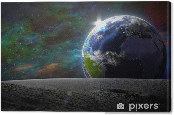 Obraz na plátně Modrá planeta - Země