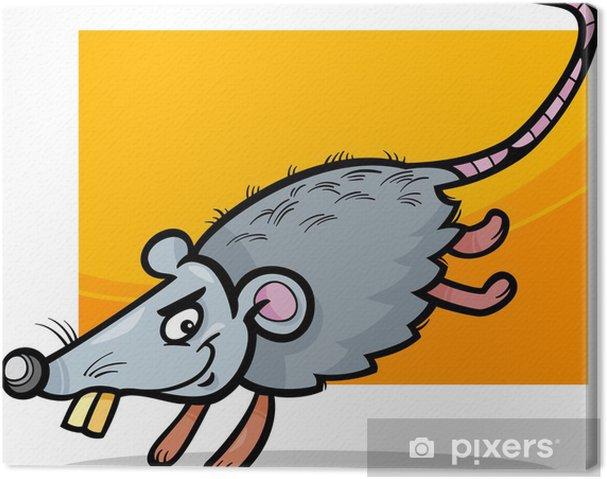 Obraz na plátně Myš nebo potkan kreslené ilustrace - Savci