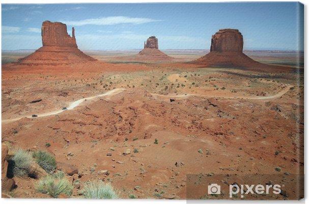 Obraz na plátně Národní park Monument Valley, poušť v Utahu, USA - Příroda a divočina
