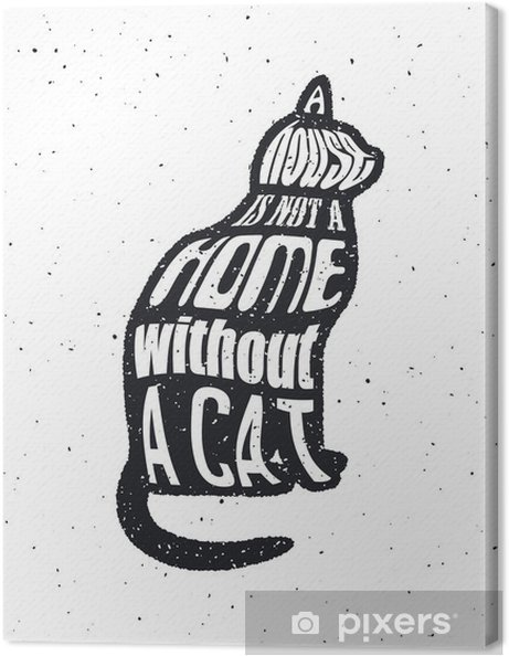 Obraz na plátně Nikdy nevěř muži, který nemá rád kočky. - Grafika