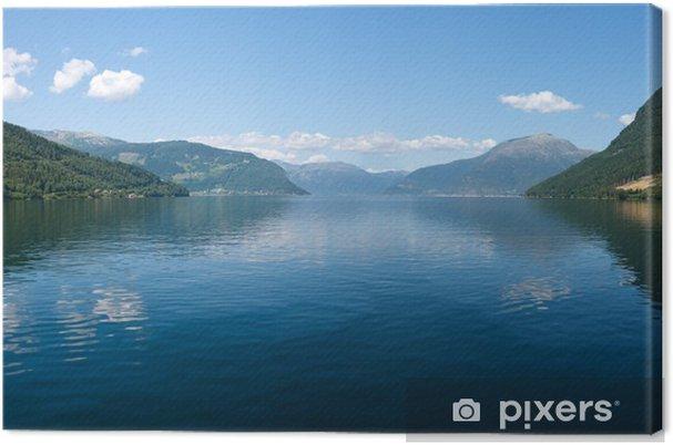 Obraz na plátně Norský fjord a hory - Evropa