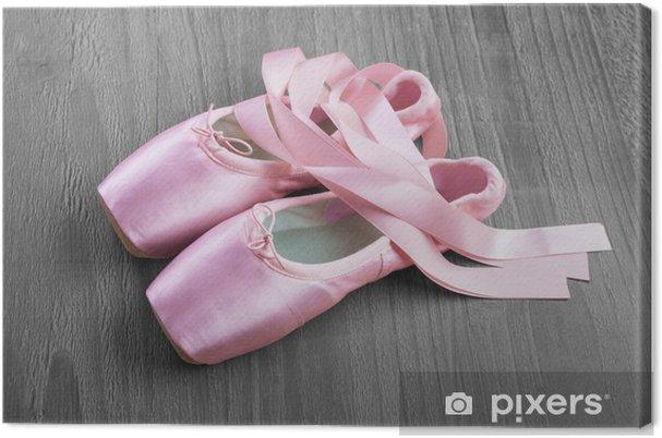 2f58eac8ecc Obraz na plátně Nová růžová balet Pointe boty • Pixers® • Žijeme pro ...