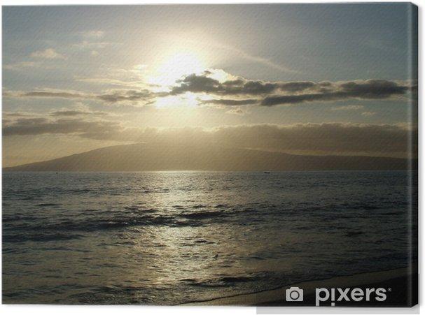 Obraz na plátně Oceánu západ slunce - Voda