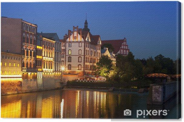 Obraz na plátně Opole v noci, Polsko - Témata
