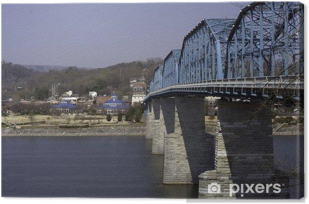 Obraz na plátně Ořech ulice most a Coolidge Park - Voda