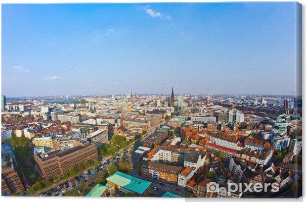 Obraz na plátně Panoráma města Hamburk od známého věže Michaelis - Evropa