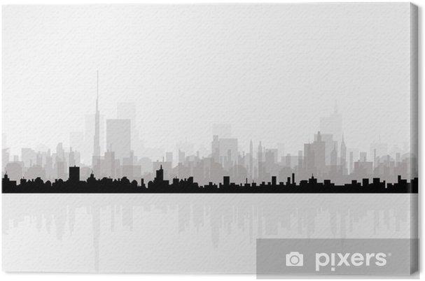 Obraz na plátně Panoráma města panorama-Vector - Město