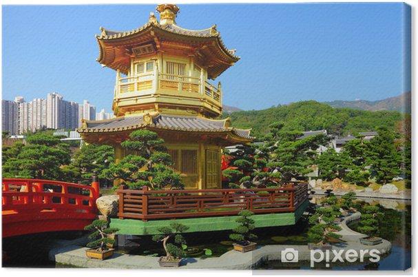 Obraz na plátně Pavilon v čínské zahradě - Soukromé budovy
