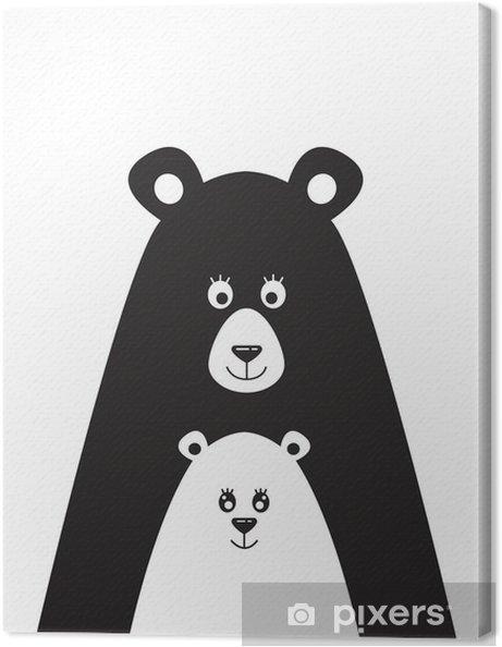 Obraz na plátně Plakát s obrazem medvěda a malého medvěda - Koníčky a volný  čas ad26ecf7179