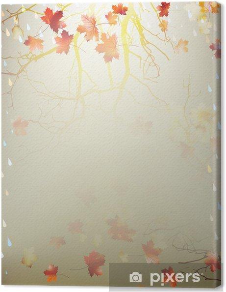 Obraz na plátně Podzimní pozadí s javorových listů. EPS 10 - Prvky podnikání