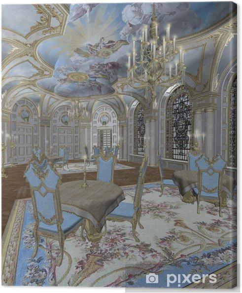 Obraz na plátně Pokój retro 4 - Soukromé budovy