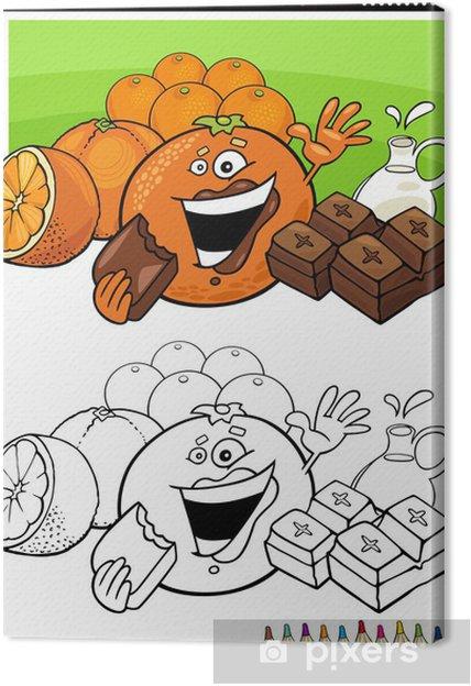 Obraz na plátně Pomeranče a čokolády pro barvení - Ovoce