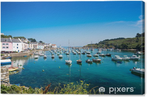 Obraz na plátně Port Sauzon na ostrov Belle Ile Mer, Francie - Evropa