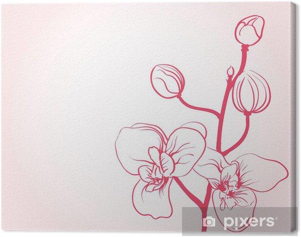 Obraz Na Platne Pozadi S Sakura Kvetiny Kresleni Pixers Zijeme