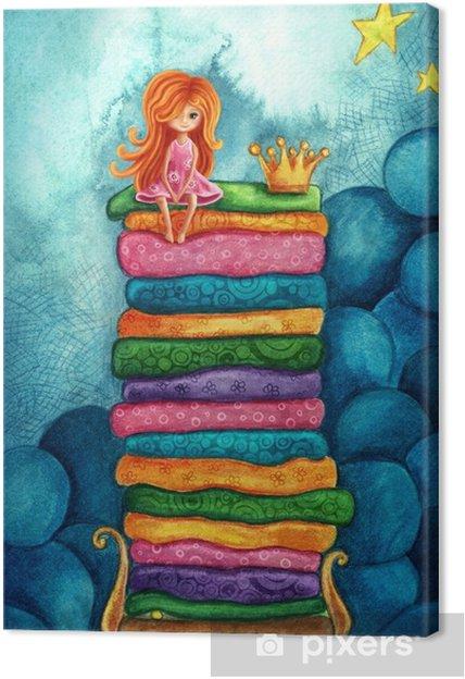 Obraz na plátně Princezna na hrášku • Pixers® • Žijeme pro změnu 5147203361d