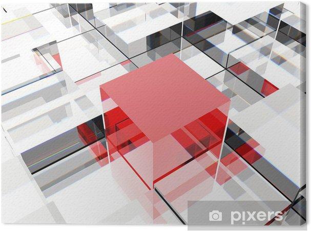Obraz Na Platne Red Cube Pixers Zijeme Pro Zmenu