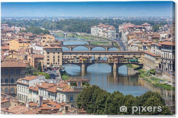 Obraz na plátně Řeka Arno a Ponte Vecchio ve Florencii 95a7dc510b