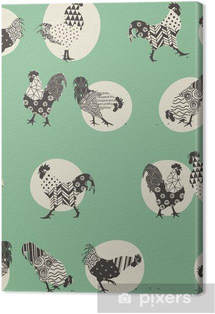 Obraz na plátně Roosters -