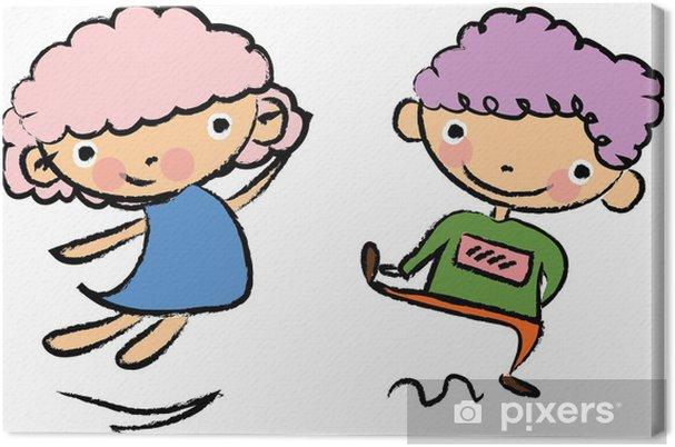 Obraz Na Platne Roztomile Kreslene Deti Pixers Zijeme Pro Zmenu