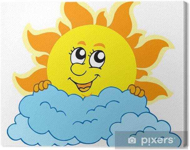 Obraz Na Platne Roztomily Kresleny Slunce S Mraky Pixers Zijeme