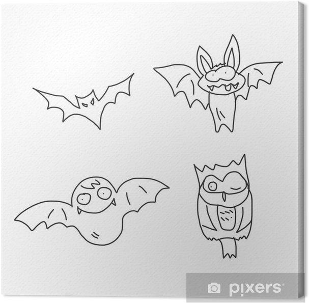 Obraz Na Platne Rucni Kresba Karikatura Halloween Pixers Zijeme