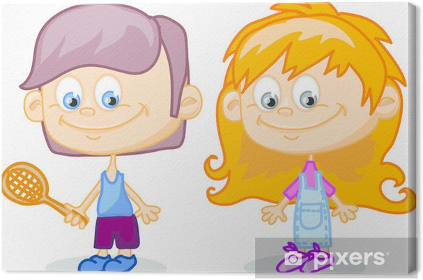 Obraz Na Platne Sada Kresleny Deti Roztomile Pixers Zijeme Pro