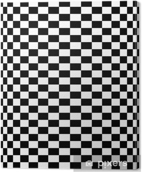 dd9f8c527 Obraz na plátně Schachbrettmuster - šachovnicový vzor 10 - Prvky podnikání