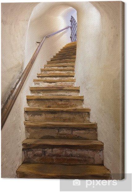 Obraz na plátně Schody v hradě Kufstein - Rakousko - Styly