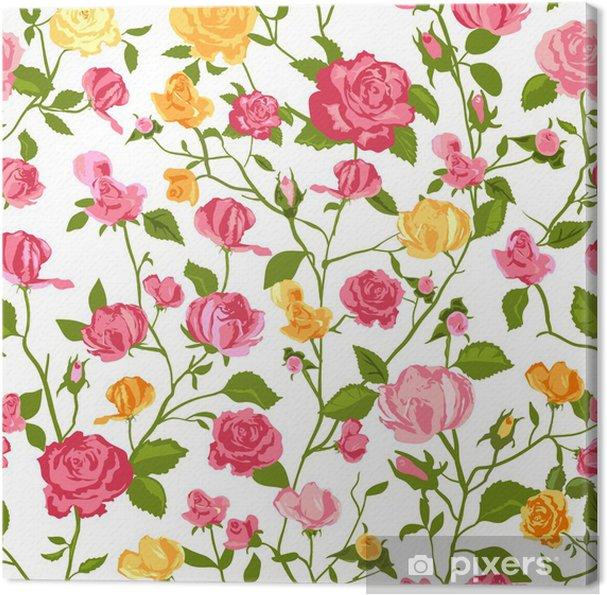 Obraz na plátně Shabby chic růže pozadí - Styly