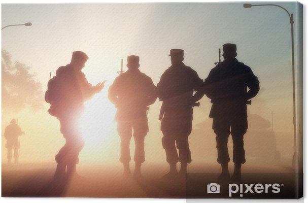 Obraz na plátně Skupina vojáků - Témata