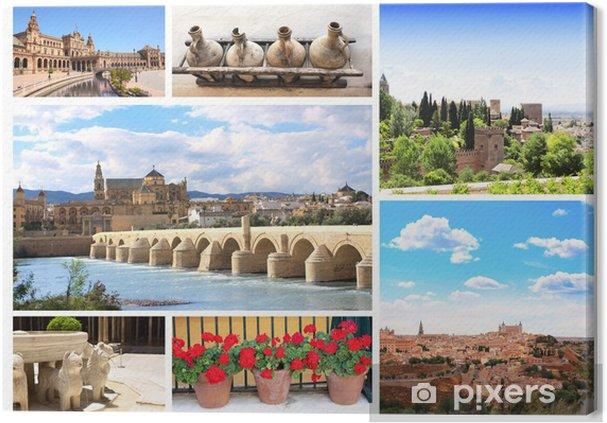 Obraz na plátně Slavná místa ve Španělsku - Evropa