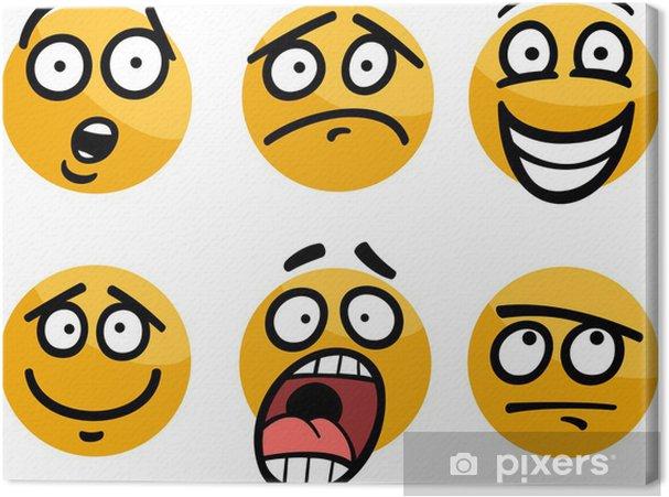 Obraz Na Platne Smajlik Nebo Emoce Nastavit Kreslene Ilustrace