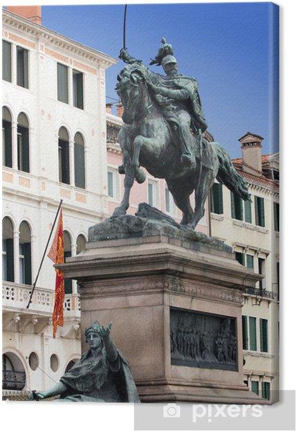 Obraz na plátně Socha krále Victor Emmanuel II v Benátkách - Evropská města cce3940e4f