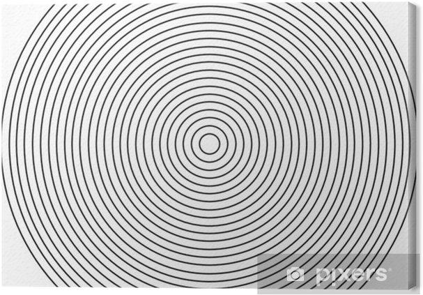 Obraz na plátně Soustředný kruhový prvek na bílém pozadí - Grafika