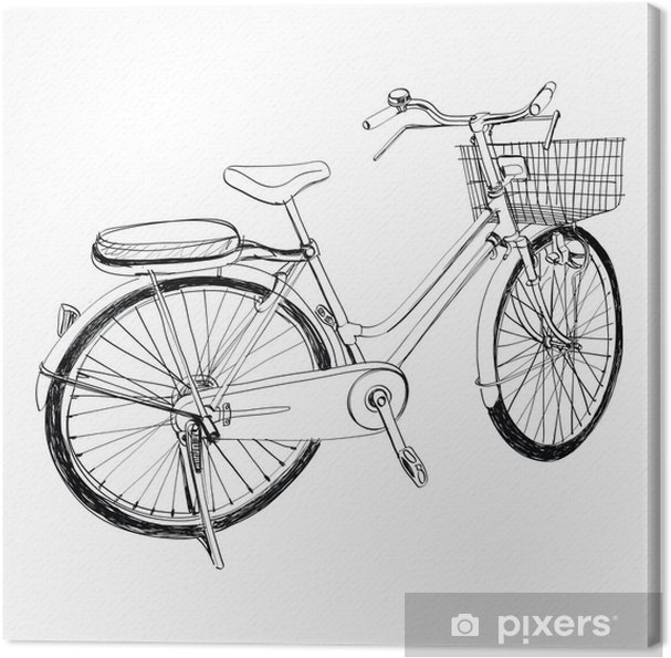 Obraz Na Platne Stare Kolo Skica Ilustrace Kreslene Rucne Pixers