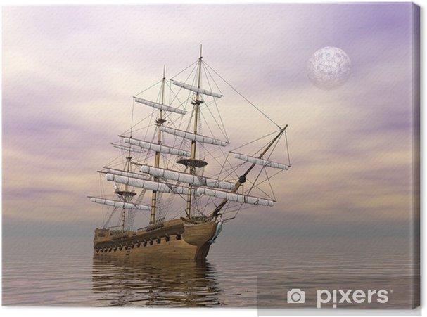 Obraz na plátně Staré obchodní loď - 3D vykreslování - Lodě, jachty a loďky