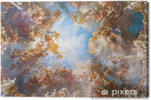 Obraz na plátně Stropní malba paláce Versailles nedaleko Paříže, Francie - Památky