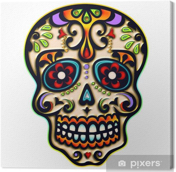 Obraz na plátně Sugar Skull, Mexiko, lebka, Ornament - iStaging
