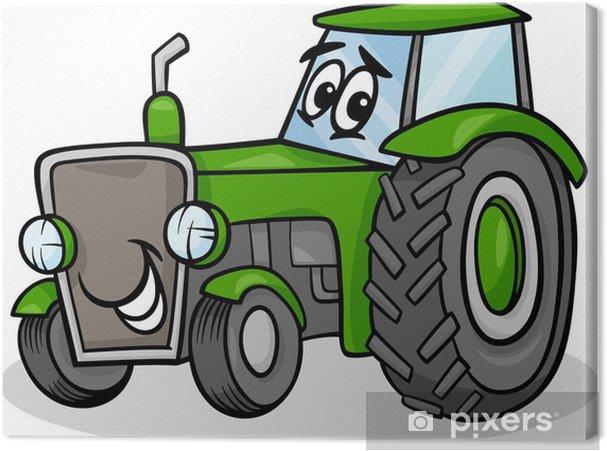 Obraz Na Platne Traktor Charakter Kreslene Ilustrace Pixers