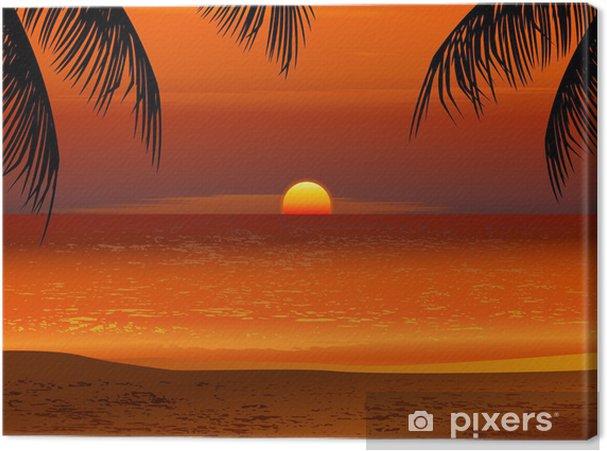 Obraz Na Platne Tropicka Plaz Zapad Slunce Pixers Zijeme Pro Zmenu