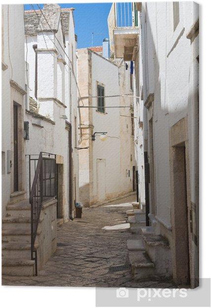 Obraz na plátně Ulička. Putignano. Puglia. Itálie. - Témata