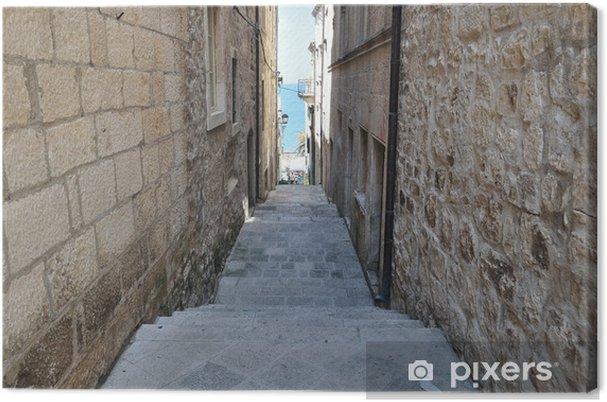 Obraz na plátně Úzká ulice ve staré středověké město. Korčula, Chorvatsko, Evropa - Témata