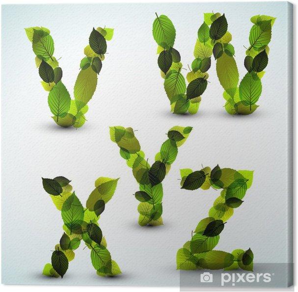 Obraz na plátně Vector abecedy vyrobené z listů - Témata