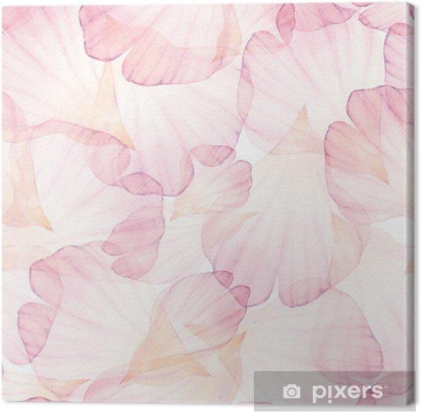 Obraz na plátně Vectorized akvarel kreslení. - Květiny