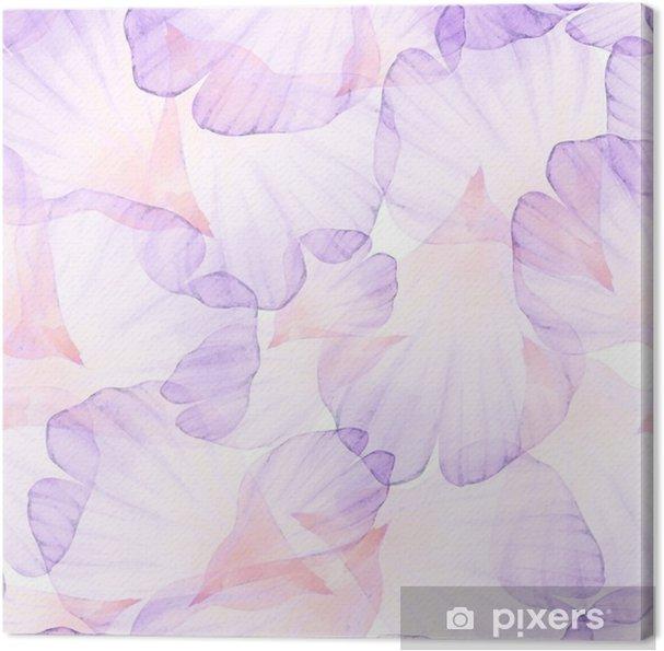 Obraz na plátně Vectorized akvarel kreslení. - Rostliny a květiny