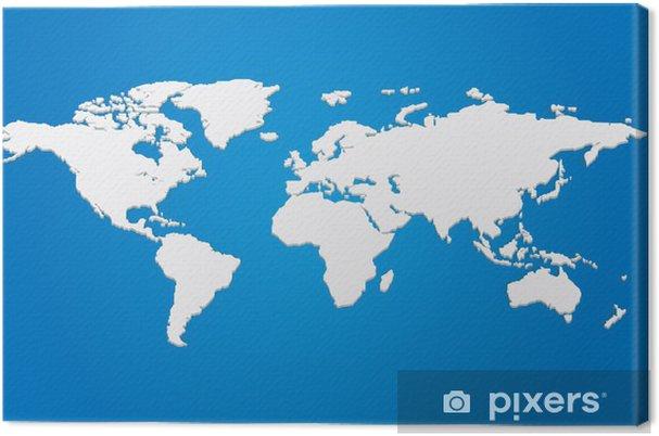 Obraz Na Platne Vektor 3d Mapa Sveta Pixers Zijeme Pro Zmenu