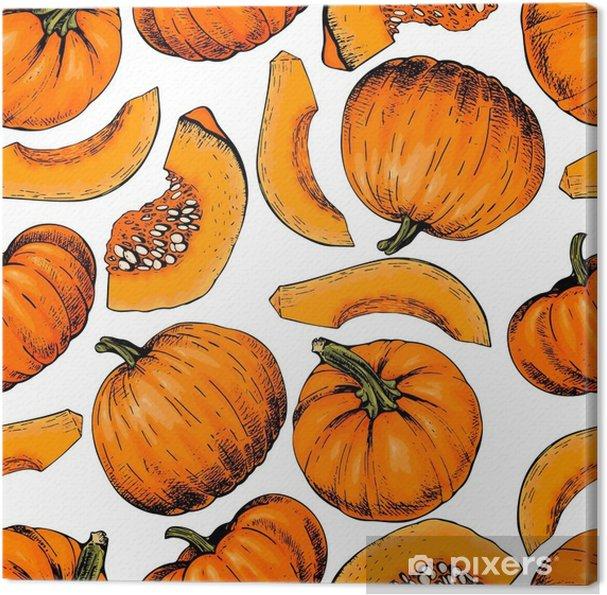 Obraz Na Platne Vektorove Rucne Kresleny Bezesve Vzorek Dyne